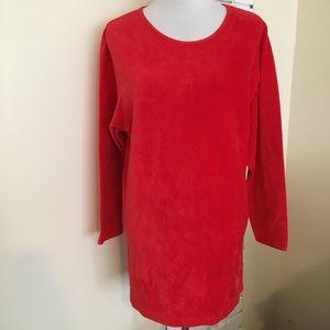 Victoria's Secret Vintage Velour Top Red Tunic